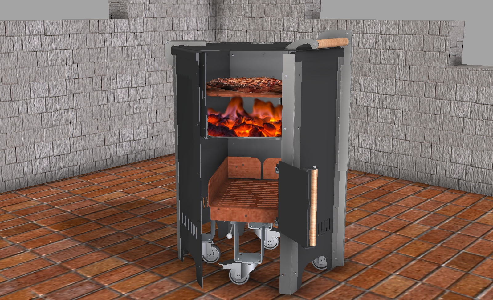grillen mit dem firefun griller die terrassenkamin und grillmanufaktur. Black Bedroom Furniture Sets. Home Design Ideas